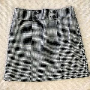 Ann Taylor Pencil Skirt 8P Black White
